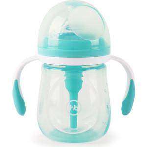 Бутылочка Happy Baby антиколиковая с ручками и силиконовой соской 180 мл. 10019 MINT цена