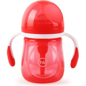 Бутылочка Happy Baby антиколиковая с ручками и силиконовой соской 180 мл. 10019 RUBY цена