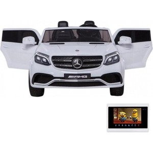 Детский электромобиль Harleybella Mercedes Benz GLS63 LUXURY 4WD 12V MP4 - White HL228-LUX-MP4