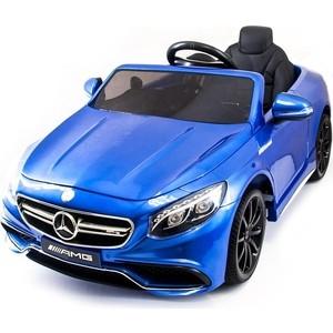 Детский электромобиль Harleybella Mercedes Benz S63 LUXURY 2.4G - Blue - HL169-LUX цена