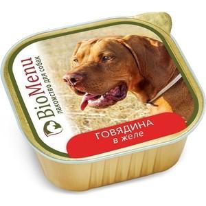 Консервы BioMenu Лакомство для собак Говядина в желе 150г