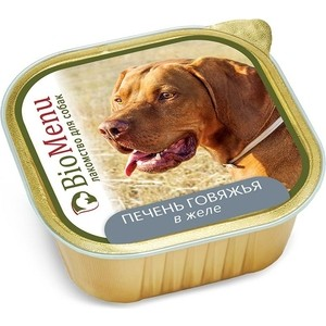 Консервы BioMenu Лакомство для собак Печень говяжья в желе 150г