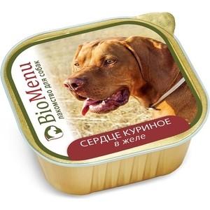 Консервы BioMenu Лакомство для собак Сердце куриное в желе 150г
