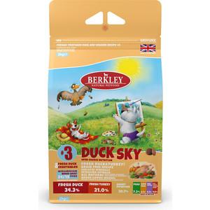 Сухой корм Berkley №3 Adult DUCK SKY Fresh Duck & Vegetables беззерновой с уткой, индейкой и овощами для собак мелких средних пород 2кг (75301)