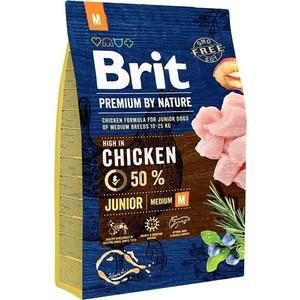 Сухой корм Brit Premium by Nature Junior M Hight in Chicken с курицей для молодых собак средних пород 3кг (526321)