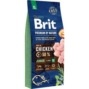 Сухой корм Brit Premium by Nature Junior XL Hight in Chicken с курицей для молодых собак гигантских пород 15кг (526505)