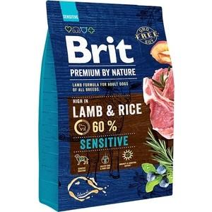 Сухой корм Brit Premium by Nature Sensitive Hight in Lamb & Rice с ягненком и рисом для собак чувствительным пищеварением 3кг (526628)