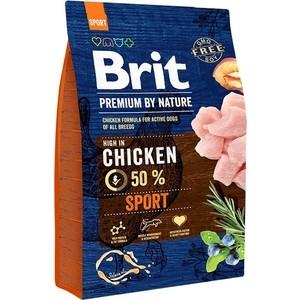 Сухой корм Brit Premium by Nature Sport Hight in Chicken с курицей для активных собак всех пород 3кг (526666)