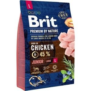 Сухой корм Brit Premium by Nature Junior L Hight in Chicken с курицей для молодых собак крупных пород 3кг (526420)