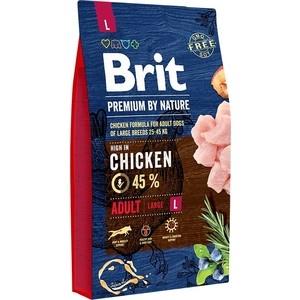 Сухой корм Brit Premium by Nature Adult L Hight in Chicken с курицей для взрослых собак крупных пород 8кг (526451)