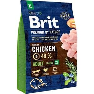 Сухой корм Brit Premium by Nature Adult XL Hight in Chicken с курицей для взрослых собак гигантских пород 3кг (526512)