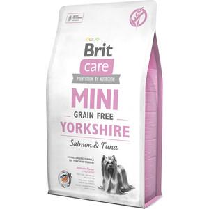 Сухой корм Brit Care MINI Grain-Free Yorkshire Salmon & Tuna беззерновой с лососем и тунцом для собак породы йоркширский терьер 2кг (520190)