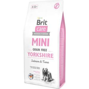 Сухой корм Brit Care MINI Grain-Free Yorkshire Salmon & Tuna беззерновой с лососем и тунцом для собак породы йоркширский терьер 7кг (520213)