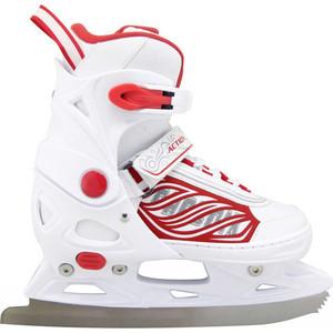 коньки ледовые для мальчика maxcity snipe boy раздвижные цвет черный серый красный размер 29 32 Коньки ледовые раздвижные Action PW-030 Коньки ледовые раздвижные р.33-36