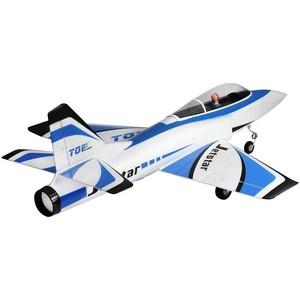 Радиоуправляемый самолет TOPrc Jet Star синий 65mm PNP - top029B