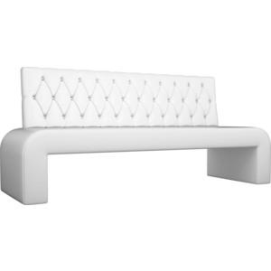 Кухонный прямой диван АртМебель Кармен Люкс экокожа белый диван артмебель евро люкс 09 12