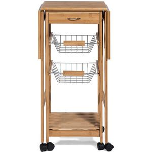 Столик передвижной кухонный разделочный TetChair mod. 12JW3-2135 натуральный