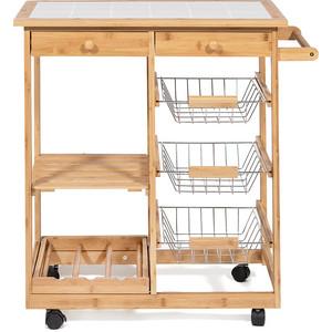 Столик передвижной кухонный разделочный TetChair mod. JW3-2063 натуральный