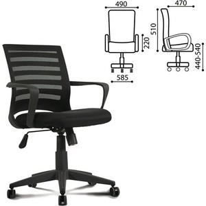 Кресло оператора Brabix Carbon MG-303 с подлокотниками, черное, 530868