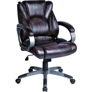 Кресло офисное Brabix Eldorado EX-504 экокожа, коричневое, 530875