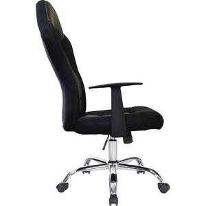 Кресло офисное Brabix Fusion EX-560 экокожа/ткань, хром, черное, 531581 кресло офисное brabix strike ex 525 экокожа черная ткань черная tw 531381