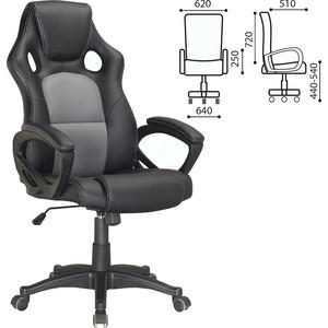 Кресло офисное Brabix Rider Plus EX-544 комфорт экокожа, черное/серое, 531582