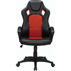цена Кресло офисное Brabix Rider EX-544 экокожа черная/ткань красная, 531583 онлайн в 2017 году