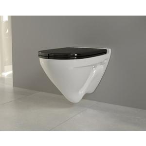 Унитаз подвесной Sanita luxe Attica Luxe Color Black SL с сиденьем микролифт (ATCSLWH0110)