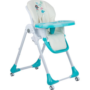 стульчик для кормления capella s 207 зеленый Стульчик для кормления Capella голубой пингвиненок GL000840524