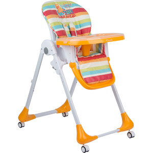 стульчик для кормления capella s 207 зеленый Стульчик для кормления Capella оранжевый утенок GL000840521