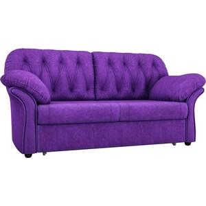 Диван прямой АртМебель Ванкувер велюровый фиолетовый диван ванкувер mebelvia