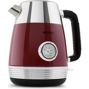 Чайник электрический KITFORT KT-633-2, красный аэрогриль kitfort kt 1621 2 красный чёрный