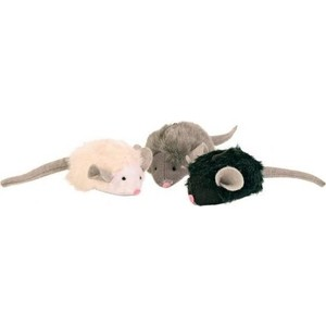 Игрушка TRIXIE Набор Мягкие мышки с микрочипом 6,5см*12шт для кошек (4199)