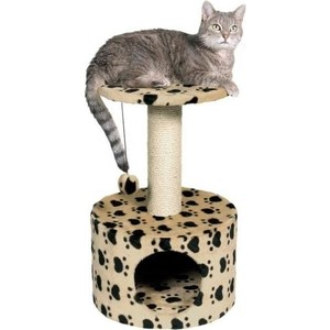 Когтеточка TRIXIE Toledo домик с площадкой с рисунком для кошек 61см (43704) домик когтеточка меридиан круглый с площадкой и полкой цвет светло коричневый бежевый 55 х 50 х 147 см
