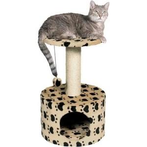 Когтеточка TRIXIE Toledo домик с площадкой рисунком для кошек 61см (43704)