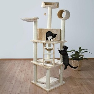 Когтеточка TRIXIE Комплекс Montilla с домиком бля кошек 212см (43631) игровой комплекс для кошек лапкиндом майя с домиком и когтеточкой цвет кремовый 50 х 50 х 100 см