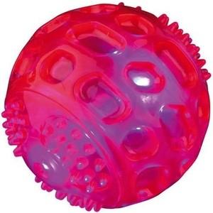Игрушка TRIXIE Мяч светящийся ф6,5см для собак (33643) игрушка nerf мяч для регби светящийся для собак 10 см красный желтый