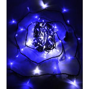 Light Светодиодная нить с белым бликующим диодом 10м, 220-230V, черн. пр., синий