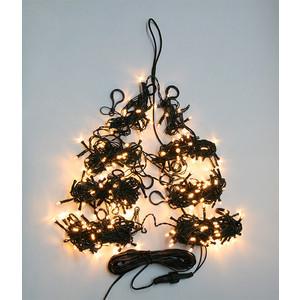 Light Светодиодная гирлянда на елку Пятиминутка 2.4м, зел. пр., тепл. белый