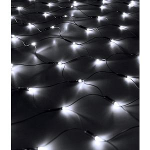 Light Светодиодная сеть 2x2м, 256 led, 24V, черн. пр., белый