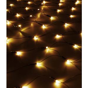 Light Светодиодная сеть 2x2м, 256 led, 24V, черн. пр., теплый белый