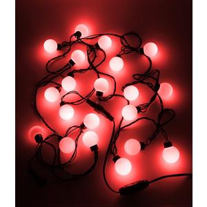 Гирлянда светодиодная Light Шарики-40мм 5м, 220-230V, черн. пр. красный