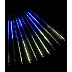 Light Комплект Тающие сосульки 24V, 10х0.5м, 720 Led, белый-синий light комплект тающие сосульки 24v 5х0 3м 160 led синий