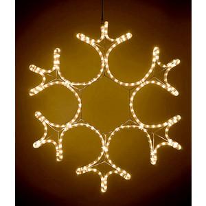 Light Снежинка светодиодная ажурная 0,55м, 220V, прозр. пр. теплый