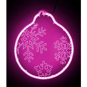 Светодиодная фигура Light Шар модель №2, 220V, розовый шар ветка 80мм стекло розовый