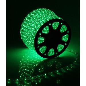 Light Дюралайт круглый 13мм фиксинг, к.р. направленный, зеленый