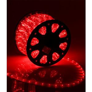 Light Дюралайт круглый 13мм фиксинг, к.р. направленный, красный
