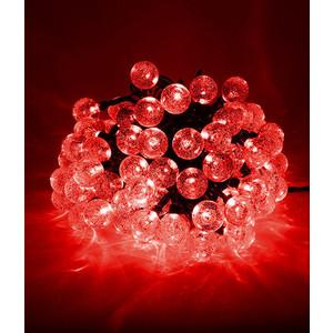 Гирлянда светодиодная Light Пузырьки 10м, 100 led, 220-230V., D23 мм красный
