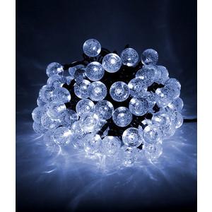 Гирлянда светодиодная Light Пузырьки 10м, 100 led, 220-230V., D23 мм хол. белый цена и фото