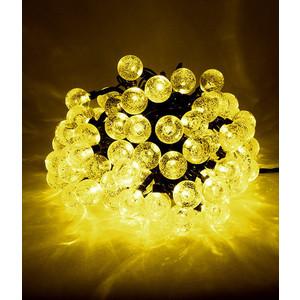 Гирлянда светодиодная Light Пузырьки 10м, 100 led, 220-230V., D23 мм желтый цена и фото
